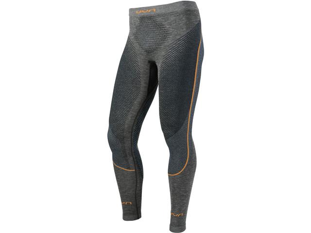 UYN Ambityon Melange UW Pantalon Homme, black melange/atlantic/orange shiny